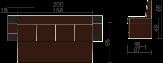 Кухонный диван КВАДРО-8