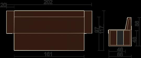 Кухонный диван Остин-5