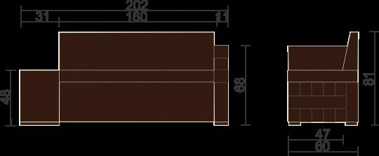 Кухонный диван Престон-10