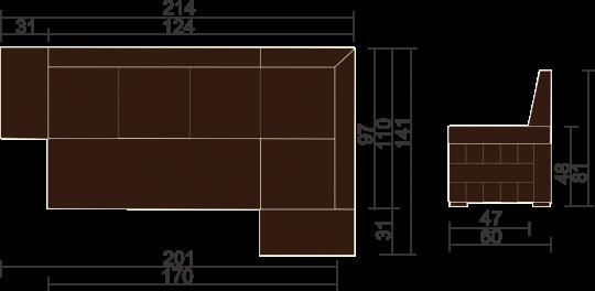 Кухонный угловой диван Престон-10