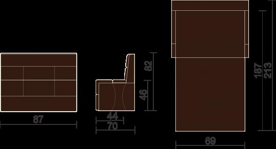 Кухонный диван Тулон-8