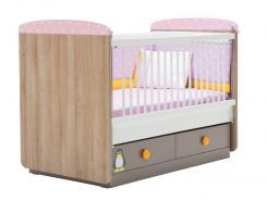 Кроватка (70х130) PINK PENY PNP-1601 (без матраса)