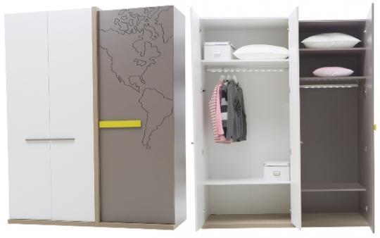 Шкаф 3-х дверный My World MW-1001