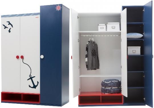 Шкаф 3-х дверный Nautica NT-1001