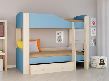 Двухъярусная кровать Астра 2 голубой