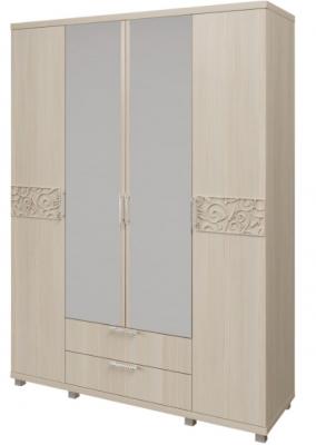 Шкаф для одежды 4-х дверный с ящиками 6 Ирис-1