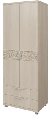Шкаф для белья 2-х дверный с ящиками 8 Ирис