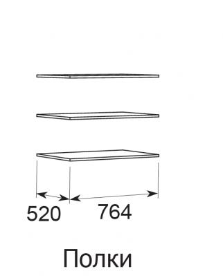 Комплект из 3 полок к шкафам для одежды ИРИС модели 10, 11