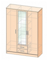Шкаф 3-дверный с ящиками Джустин