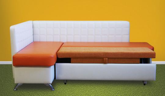 Кухонный угловой диван Фреш со спальным местом дельфин-1