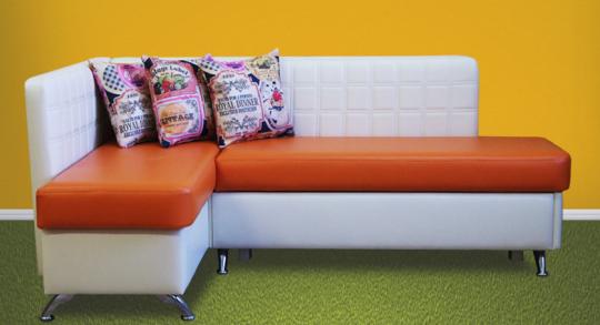 Кухонный угловой диван Фреш со спальным местом дельфин