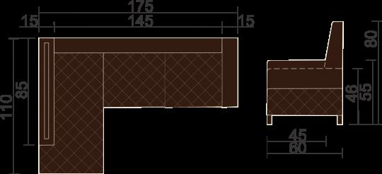 Кухонный угловой диван Кёльн с ящиками-8