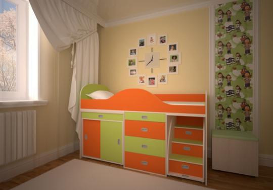 Кровать-чердак Малыш ЛЮКС-1