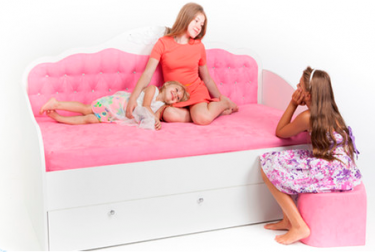 Кровать-диван Princess со стразами Сваровски без ящика, без матраса
