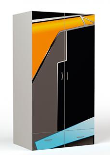 Шкаф 2-х дверный PL-1007 (без зеркала)/PL-1007/1 (с зеркалом) Pilot