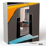 Шкаф 3-х дверный PL-1008/1 Pilot с зеркалом