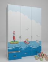 Шкаф 3-х дверный OC-1008 Ocean
