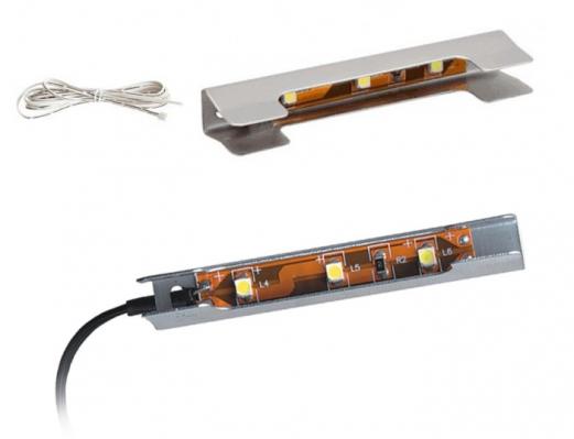 Доп.модуль №1 подсветка голубой свет (комплект на 1 полку)