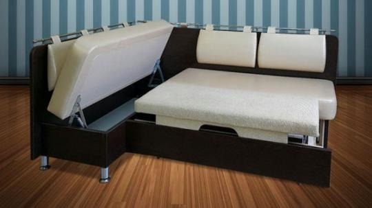 Кухонный угловой диван Сюрприз со спальным местом-1