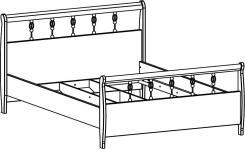 Кровать (51.104.00/01/02/03) без орт.основания, без матраса