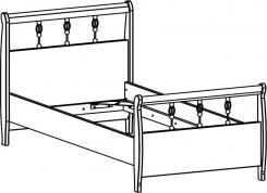 Кровать (51.104.04) без орт.основания, без матраса