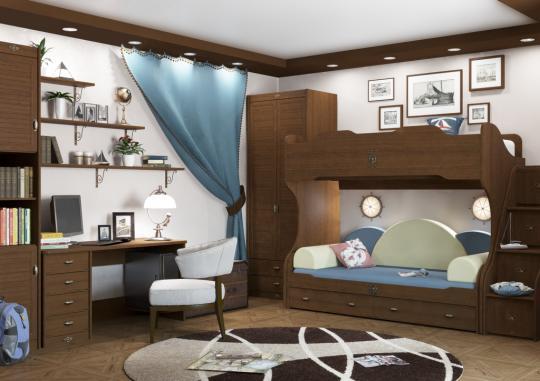 Подростковая комната Корвет вариант №7