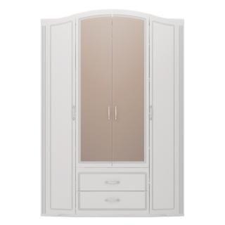 Шкаф для одежды 4-х дверный с ящиками (с зеркалами) Виктория 02