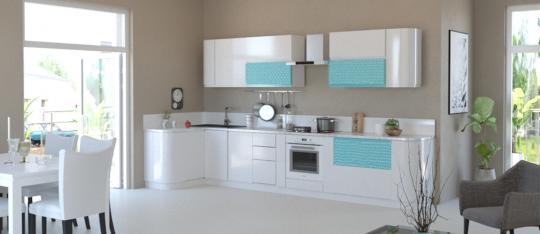 Кухня Айсбери Аквайт-1