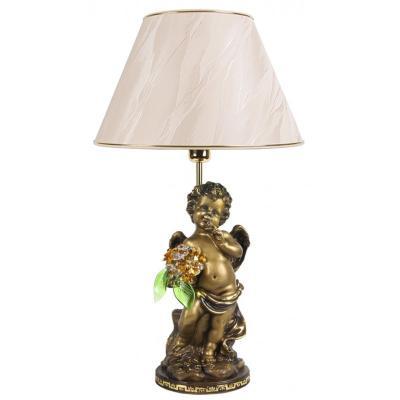 Светильник настольный Ангел с хрустальными цветами-1
