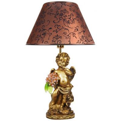 Светильник настольный Ангел с хрустальными цветами-2