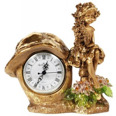 Часы Лесная фея с хрустальными цветами