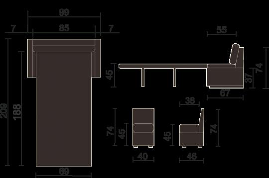 Кухонный диван Турин-10