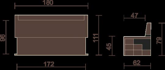 Кухонный диван Редвиг-10