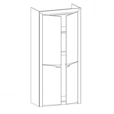Шкаф 2-х дверный Гарда