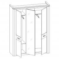 Шкаф 3-х дверный Магнолия