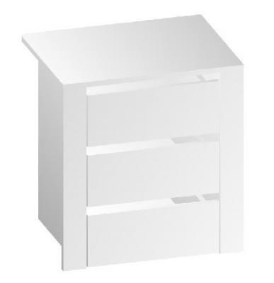 Дополнительная тумбочка в шкафы 3-х и 4-х дверные Магнолия