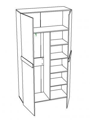Шкаф для одежды Лофт-2 НМ 013.40-03