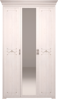 Шкаф для платья и белья 3-х дв с зеркалом 06+карниз К1/06 Афродита