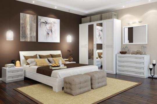 Спальня Капри (с декором экокожа)
