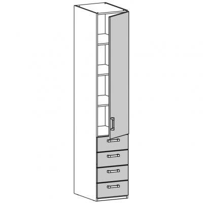 Шкаф одностворчатый (17.201.03)-1