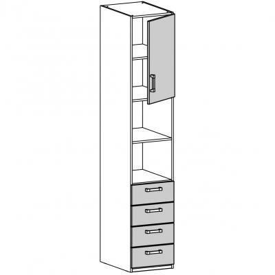 Шкаф одностворчатый (17.211.01)-1