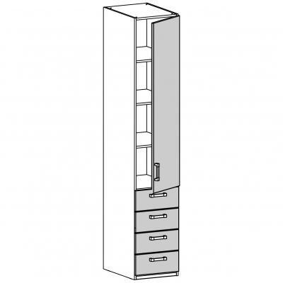 Шкаф одностворчатый (17.211.03)-1