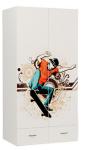 Шкаф 2-х дверный EX-1007 Extreme Skate