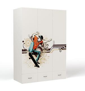 Шкаф 3-х дверный EX-1008 Extreme Skate