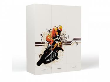 Шкаф 3-х дверный EX-1008 Extreme Moto