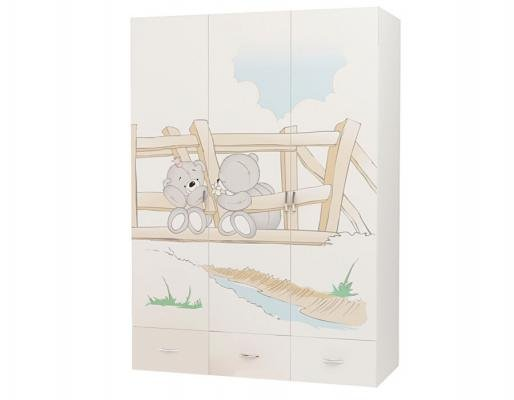 Шкаф 3-х дверный BR-1008 Bears