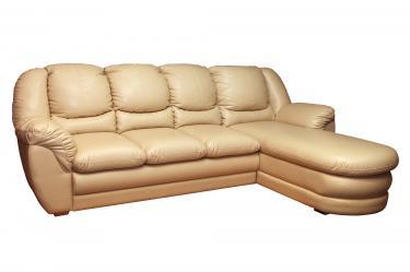 """Угловой диван """"Нимфа 3"""" дельфин с оттоманкой без ящика для белья"""