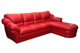 """Угловой диван """"Нодус 3"""" дельфин с оттоманкой без ящика для белья"""