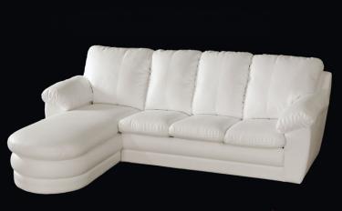 Угловой диван Сириус 3 дельфин с оттоманкой без ящика для белья