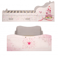 Кровать на 900 с ящиками (комплектация 1) Принцесса 05